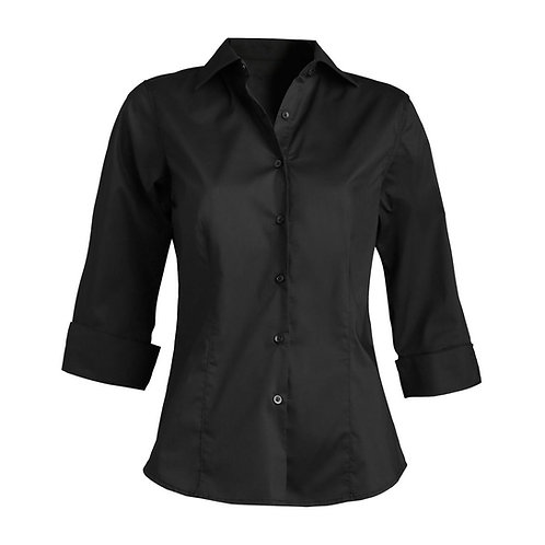 Ladies' Tailored Full-Placket Stretch Blouse