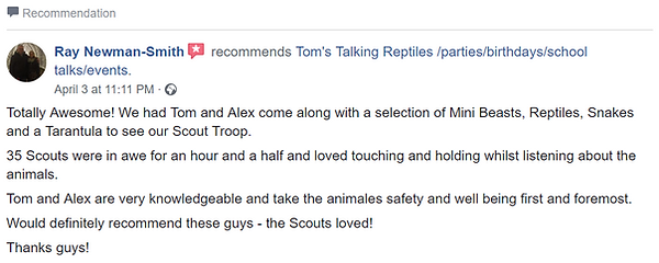 Recommendation Scouts Tom's Talking Rept