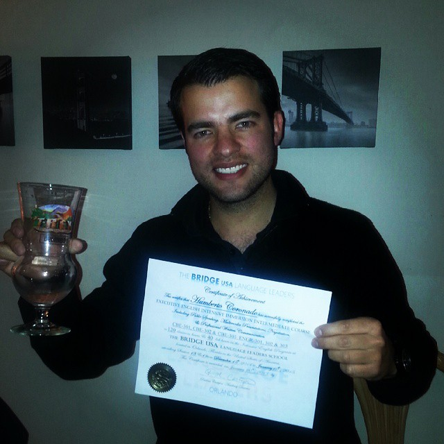 Congratulations Humberto! You successfully completed the Executive English Intensive Immersion Inter