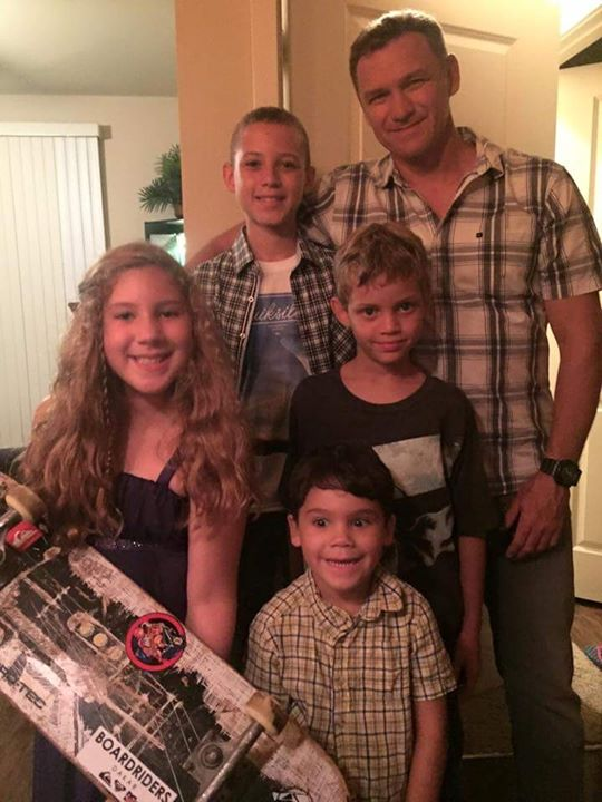 Jean Maes- #BestDadEver and his AMAZING Boys! ♡♡♡ They surf, skate, and speak French. Oli