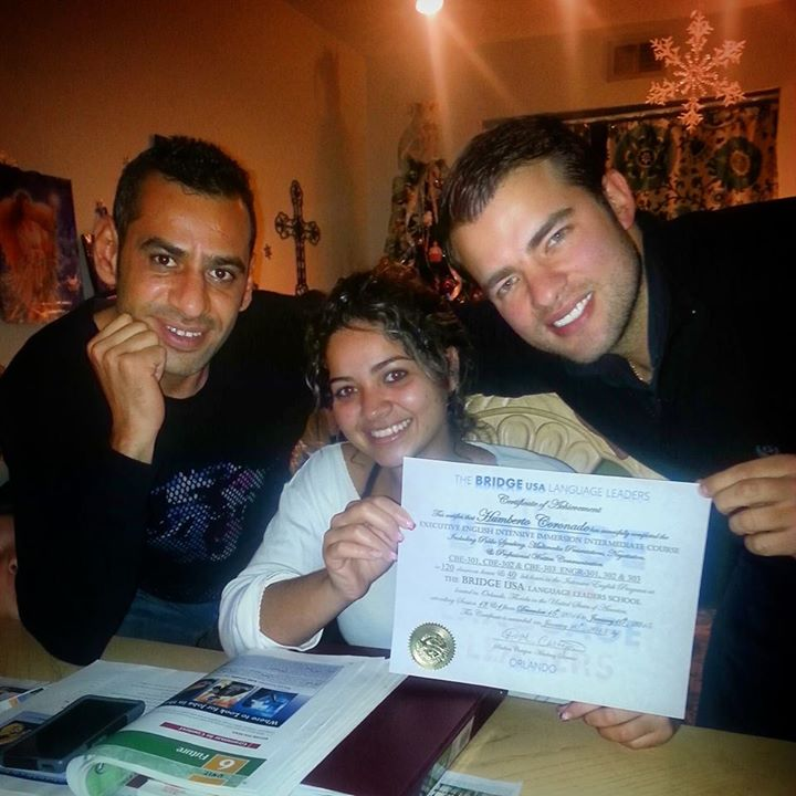 Karim, Aline, and Humberto! Goodbye Humberto we love you and will miss you! We will be happy next we