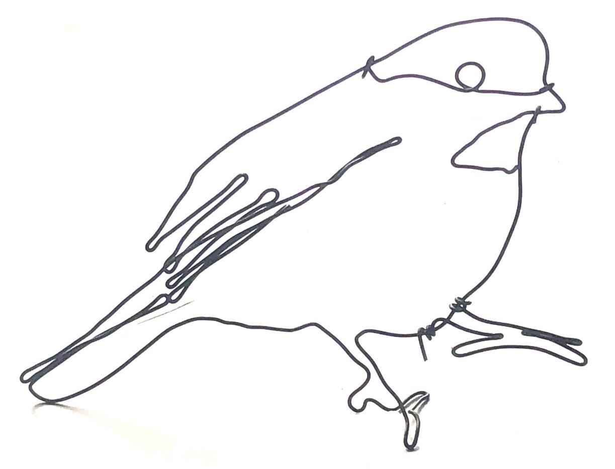 Oiseau de fil métallique