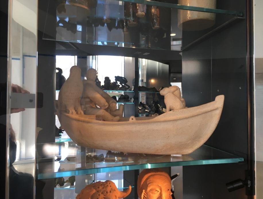 Sculpture provenant de la communauté inuite Rankin Inlet