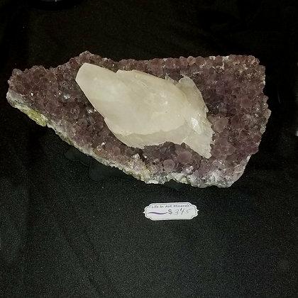 Amethyst w/ Calcite (Brazil)  AQ345