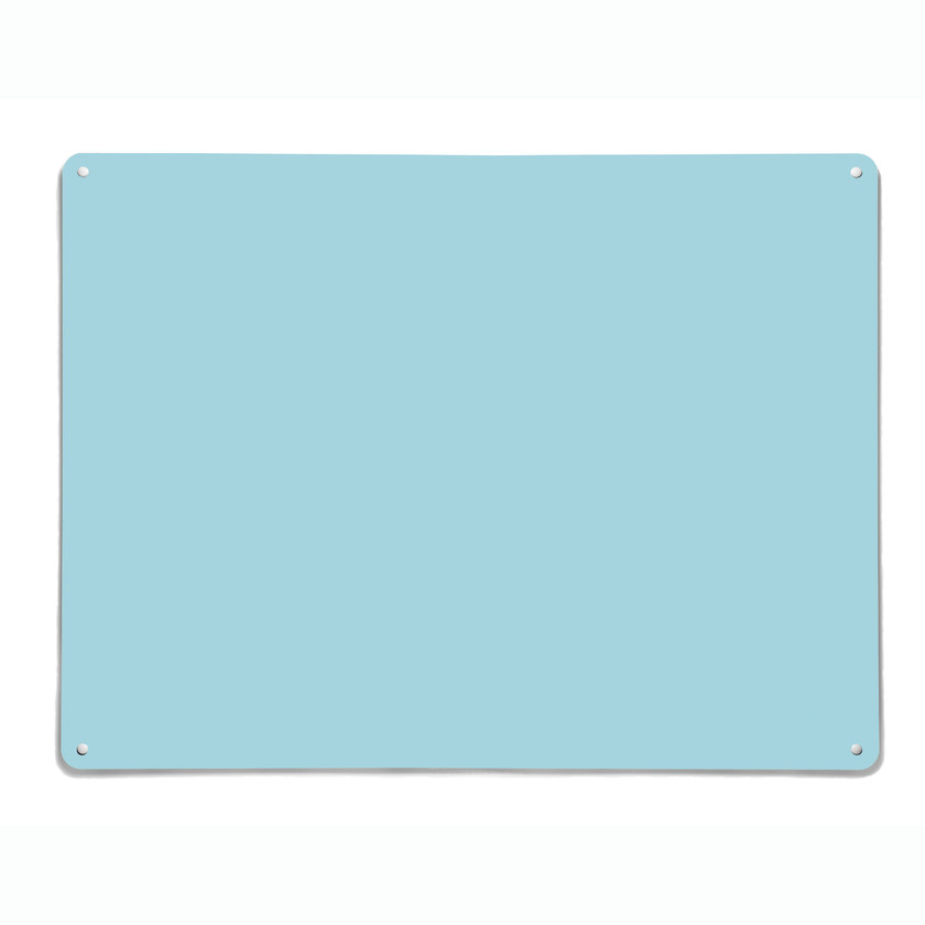 Plain Blue Magnetic Notice Board with a dry wipe surface