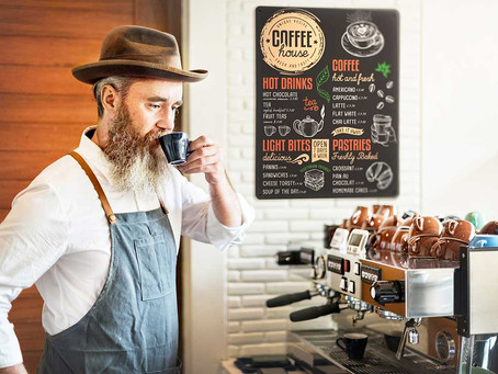 9 ideas for Coffee Shop Interiors using Magnetic Wall Art Panels