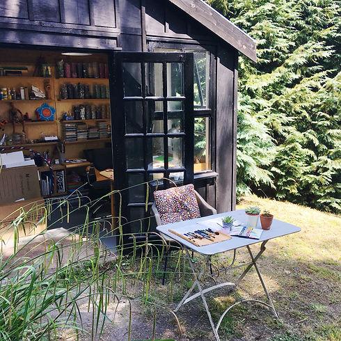 perfect Setting garden workshop in somerset