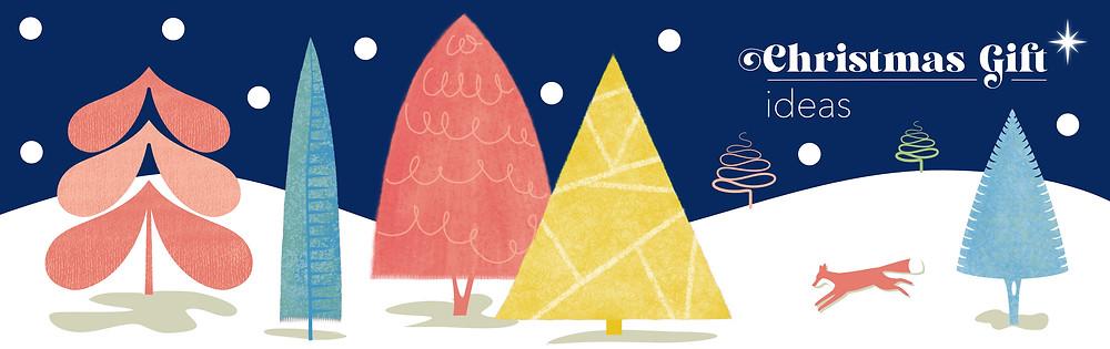 Christmas gift guide illustration