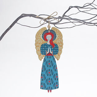 Angel Christmas Tree decoration available in two sizes and two colours