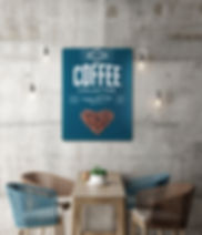 create your own magnetic board idea for coffee shop