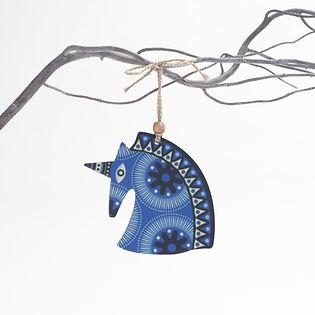 Blu Unicorn design Christmas tree decora