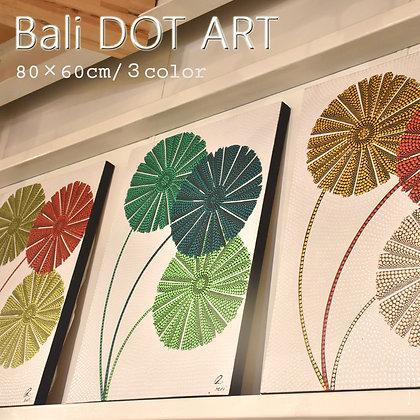 BALI ドットアート/FLOWER[60×80cm]