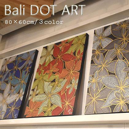 BALI ドットアート/Sプルメリア[60×80cm]