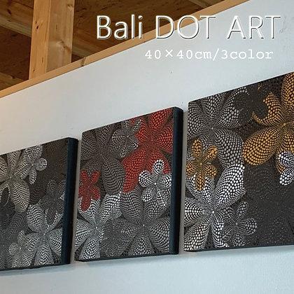 BALI ドットアート/モダンプルメリア[40×40cm]