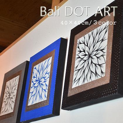 BALI ドットアート/オリエンタルフラワー[40×40cm]
