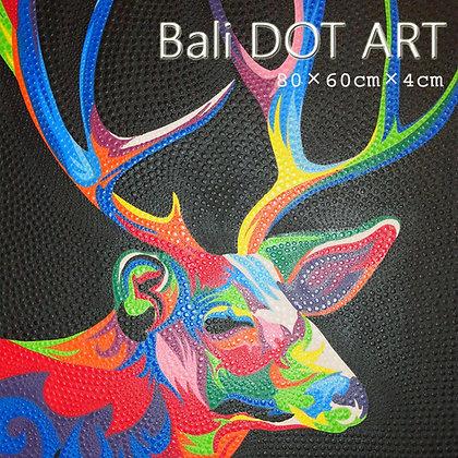 BALI ドットアート/シカ[80×60cm]