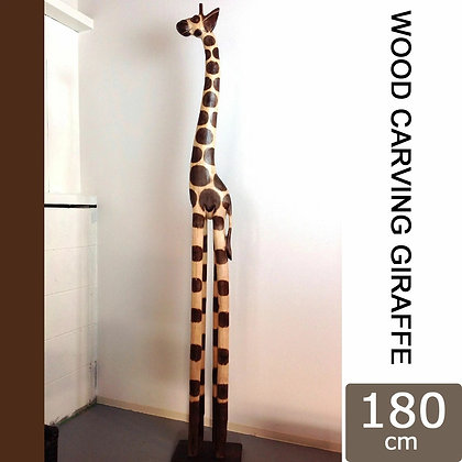 OUTLET-WOODCARVING GIRAFFE 180