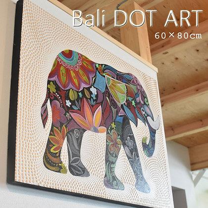 BALI ドットアート/オリエンタルエレファント[60×80cm]