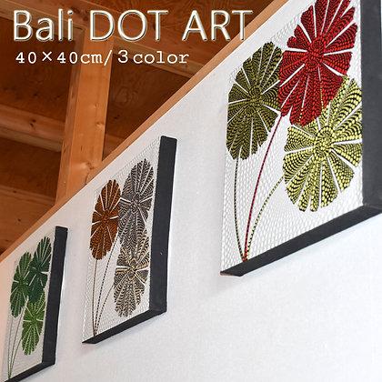 BALI ドットアート/FLOWER[40×40cm]