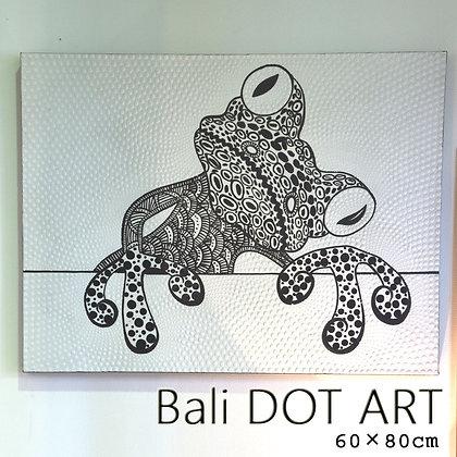 BALI ドットアート/モノトーンかえる[60×80cm]