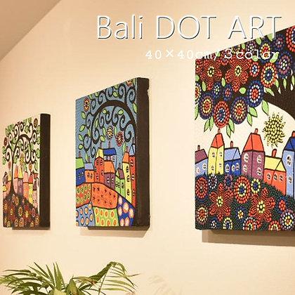 BALI ドットアート/SHIAWASE TREE[40×40cm]
