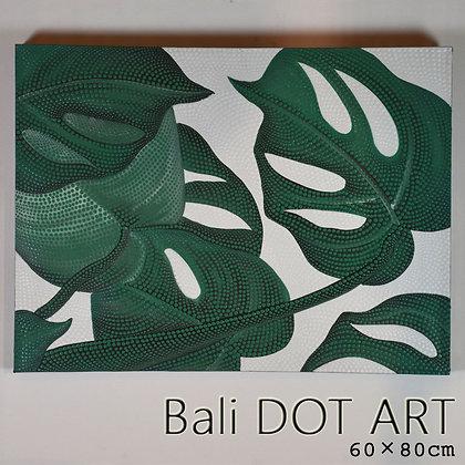 BALI ドットアート/モンステラ[60×80cm]