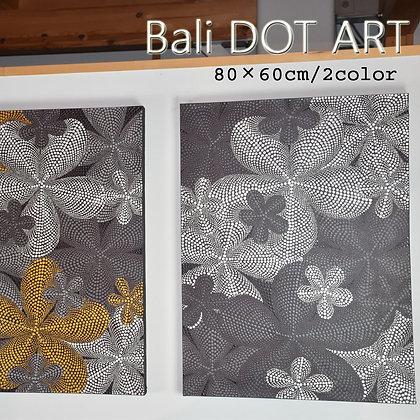 BALI ドットアート/モダンフラワー[80×60cm]