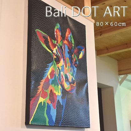 BALI ドットアート/きりん[80×60cm]