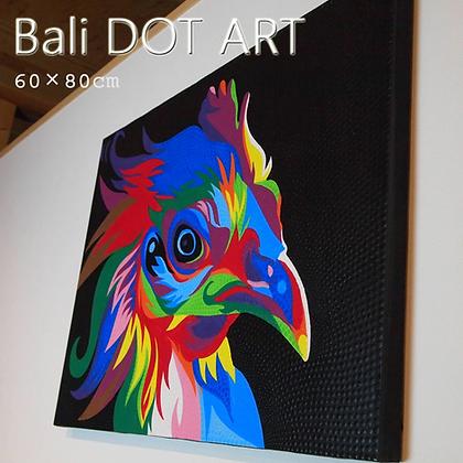 BALI ドットアート/ニワトリ[60×80cm]