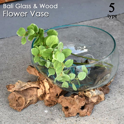 BALI 流木ガラスフラワーベース