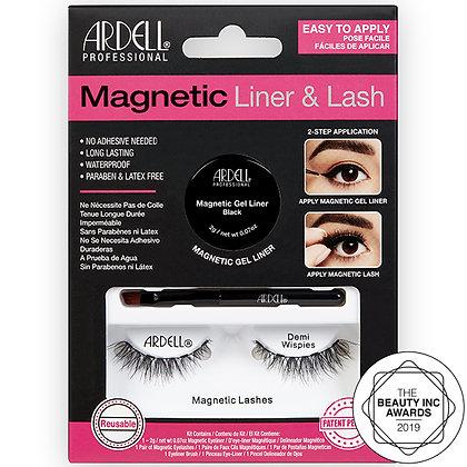 Kit Magnetic Eyeliner & Lash Demi Wispies
