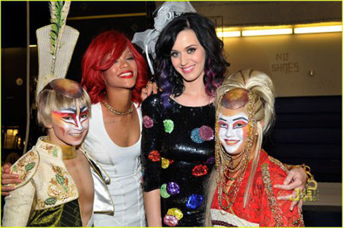 Rihanna et Katy Perry avec le cirque