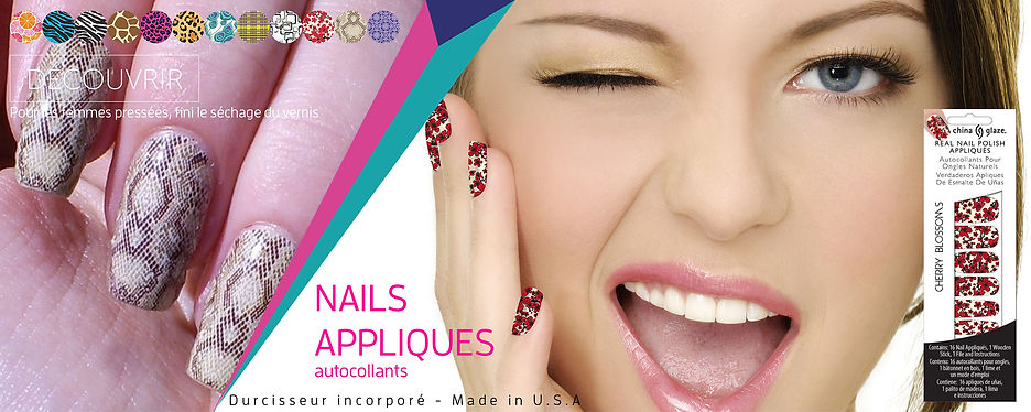 vernis china glaze collection nails appliques