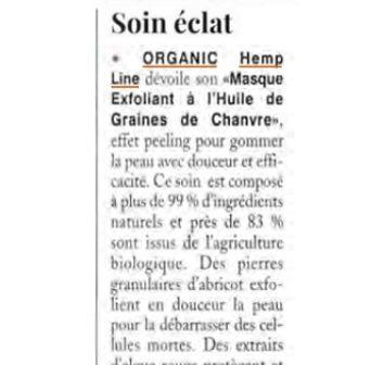 Exfoliant graines de chanvre naturel bio