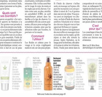 Nettoyant hydratant naturel bio peau visage routine chanvre