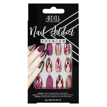 Faux-ongles Prêts à poser Ardell Nail Addict - Chrome Pink Foil