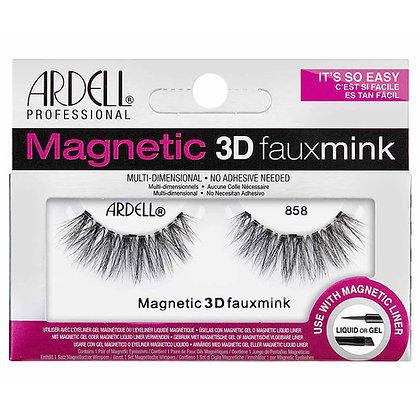 Faux-cils magnétiques simple frange 3D Faux Mink 858