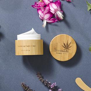 Crème de nuit, Night cream, cosmétique bio, éco cert, bambou, l'aloe vera, l'huile de jojoba, le beurre de karité, la rose musquée, l'huile d'olive,