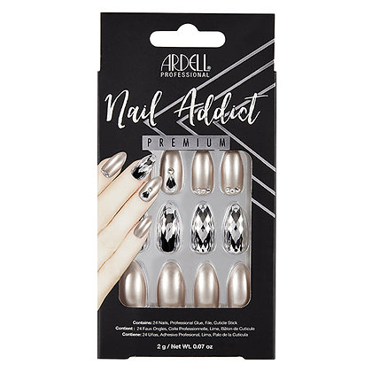Faux-ongles Prêts à poser Ardell Nail Addict - Champagne Ice