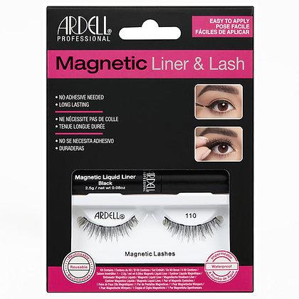 Kit de Faux-Cils magnétique avec Liquid (Feutre) Eyeliner 110