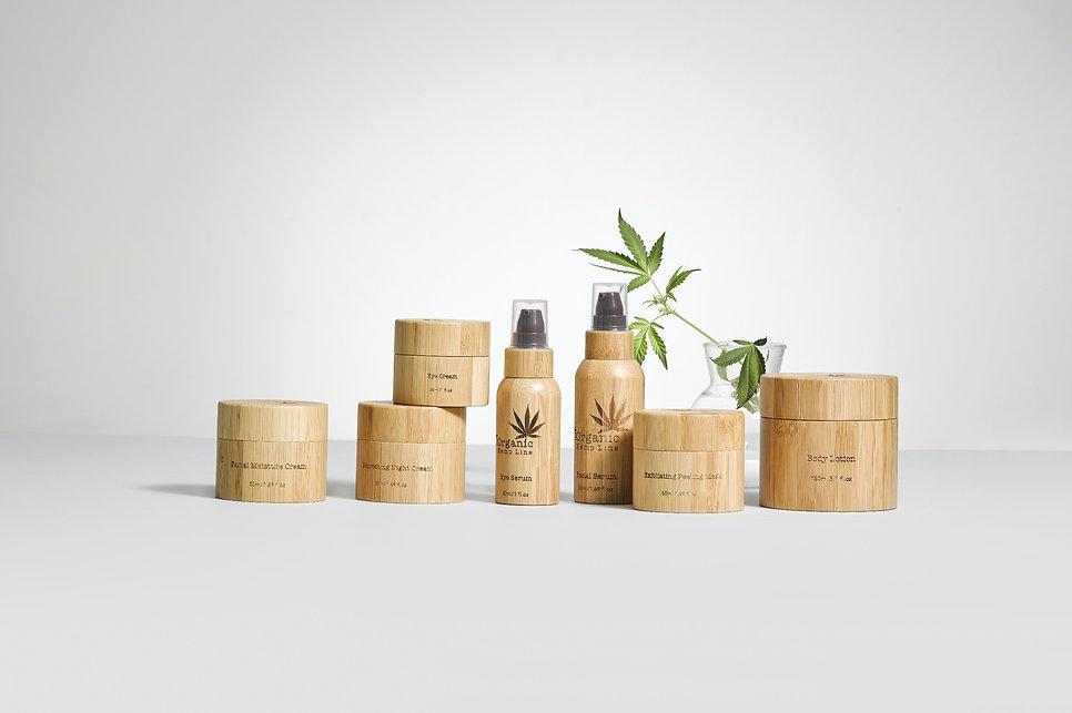 Organic Hemp line France,9 produits, huile de chanvre, conforme a la législation Française et Européenne, gamme complète avec une grande diversité de produits, ingrédient biologique certifié éco cert, packaging artisnal en bambou, huile de chanvre