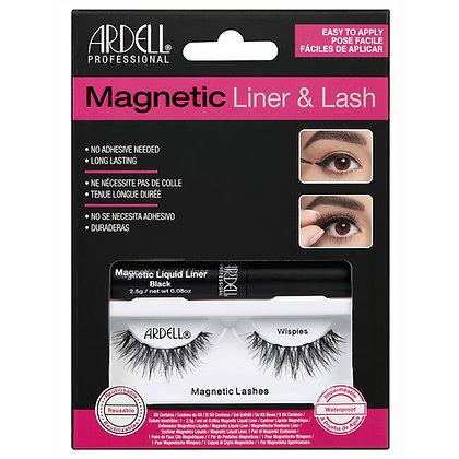 Kit de Faux-Cils magnétique avec Liquid (Feutre) Eyeliner Wispies