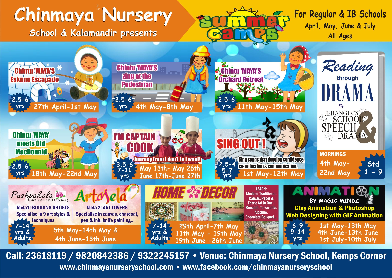 Summer Workshops - All ages Apr -Jul