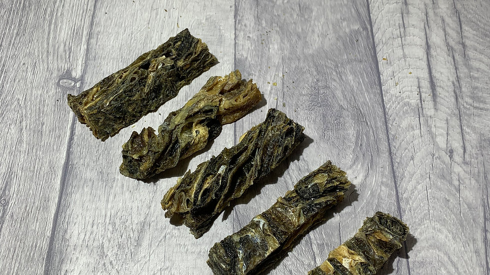 Whitefish Jerky Skins (Approx. 5 in a bag)