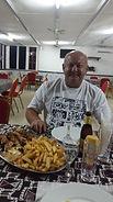 repas de pecheur . perche du nil grillée frittes .un régal