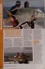 Le conakryfishingclub à l'honneur dans la presse halieitique .article paru dans voyages de peche