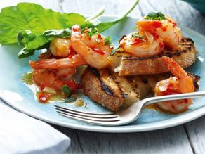 Chilli garlic prawns