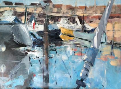 Port en Camargue 100x73 cm