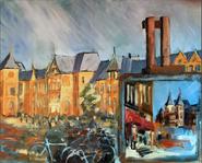 La gare,Amsterdam 100x81cm