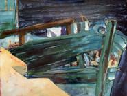La brèche (100x80 cm)